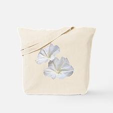 White Morning Glory Tote Bag