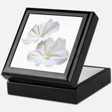 White Morning Glory Keepsake Box