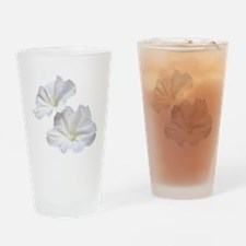 White Morning Glory Drinking Glass