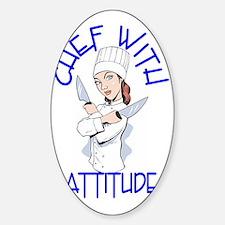 cwa_female_shirt_cr Sticker (Oval)