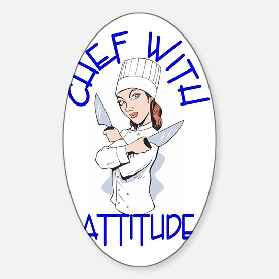 cwa_female_shirt_cr Sticker (Oval)