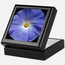 Blue Morning Glory Tile Keepsake Box