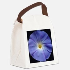 Blue Morning Glory Tile Canvas Lunch Bag
