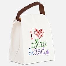 i love momdad Canvas Lunch Bag