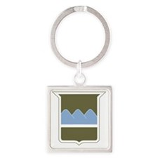 80th ID Square Keychain