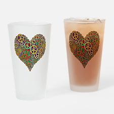 Peace Heart Light3 highpass4 Drinking Glass
