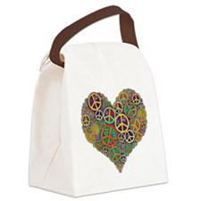 Peace Heart Light3 highpass4 Canvas Lunch Bag