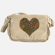 Peace Heart Light3 highpass4 Messenger Bag