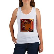 Egyptian Queen dk brown001 Women's Tank Top