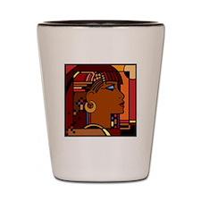 Egyptian Queen dk brown001 Shot Glass