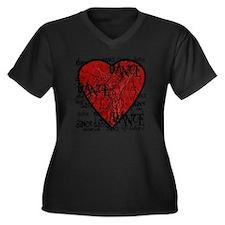 funky dance  Women's Plus Size Dark V-Neck T-Shirt