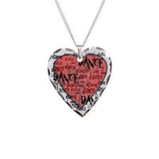 funky dance with heart best d Necklace