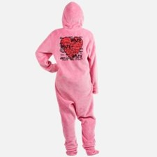 funky dance with heart best dance s Footed Pajamas