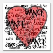 """funky dance with heart b Square Car Magnet 3"""" x 3"""""""