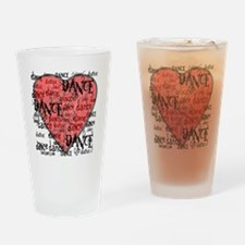 funky dance with heart best dance s Drinking Glass