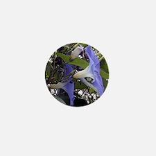 Blooming Morning Glory Tile Mini Button