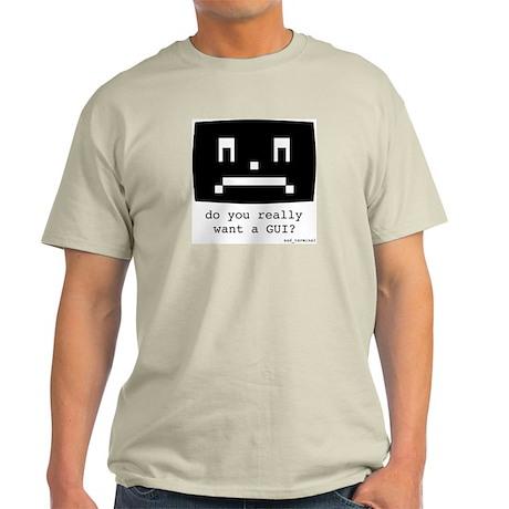 sad_terminal Ash Grey T-Shirt