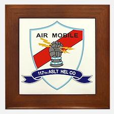 117th Assault Helicopter Co Framed Tile
