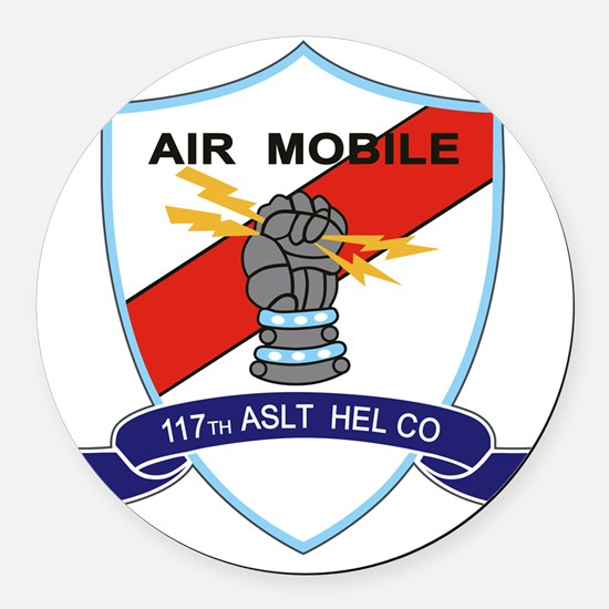 117th Assault Helicopter Co Round Car Magnet