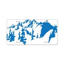 mountains0 Aluminum License Plate
