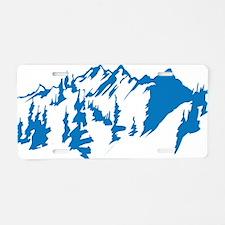 mountains0 Aluminum License Plate