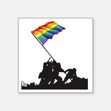"Gaywo Jima Square Sticker 3"" x 3"""