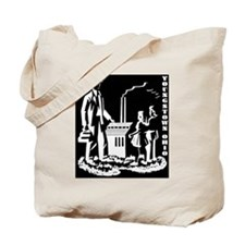 Aley book inverted BW Tote Bag