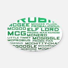 namesprobie Oval Car Magnet