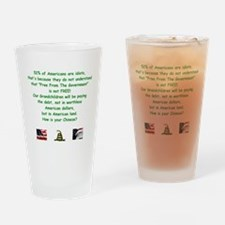 Unique National debt Drinking Glass
