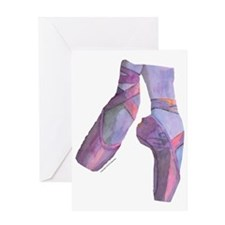 pointe_ballet_slippers_pink Greeting Card