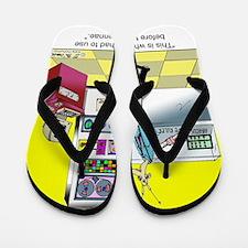 5835_science_cartoon Flip Flops