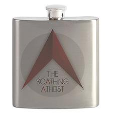 Scathing Atheist Logo Flask