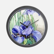 Purple Iris Wall Clock