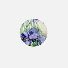 Purple Iris Mini Button
