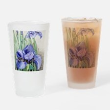 Purple Iris Drinking Glass
