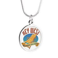Key West Relax - Silver Round Necklace