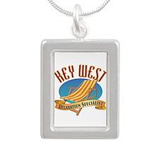 Key West Relax - Silver Portrait Necklace