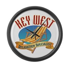 Key West Relax - Large Wall Clock