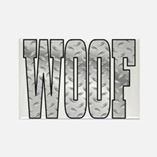 DiamoPnd late Woof Rectangle Magnet