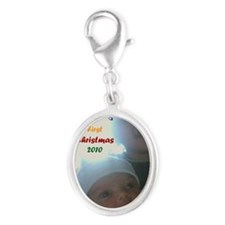 samirs first christmas Silver Oval Charm