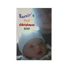 samirs first christmas Rectangle Magnet
