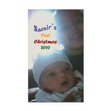 samirs first christmas Rectangle Car Magnet