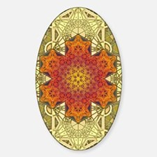 Metatron-Star-Mandala-Poster Sticker (Oval)
