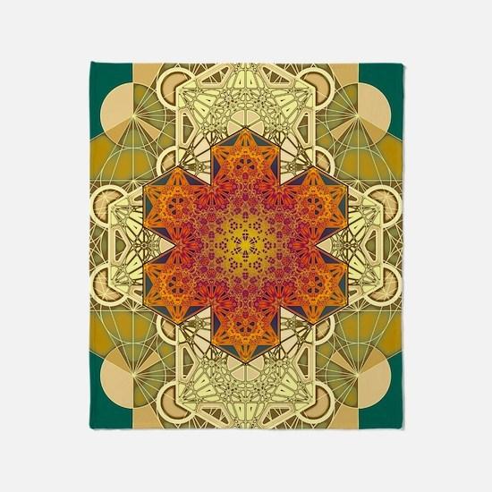 Metatron-Star-Mandala-Poster Throw Blanket