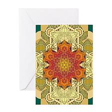 Metatron-Star-Mandala-Poster Greeting Card