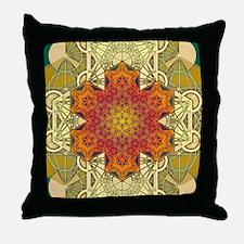 Metatron-Star-Mandala-Poster Throw Pillow