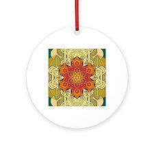 Metatron-Star-Mandala-Poster Round Ornament