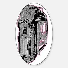 Evo - X - Black Design - Pink Outli Decal