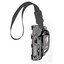 Evo - X - Black Design - Pink Ou Luggage Tag