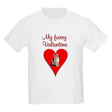 Furry Valentine Cat2 Kids T-Shirt